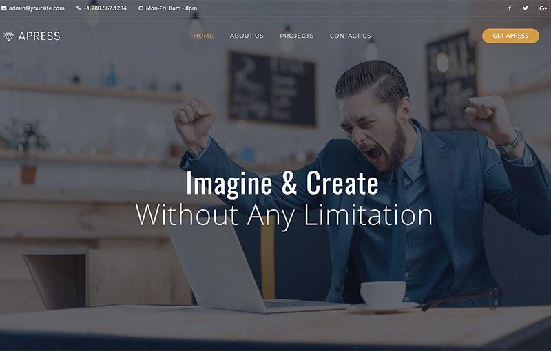 Landing creative site