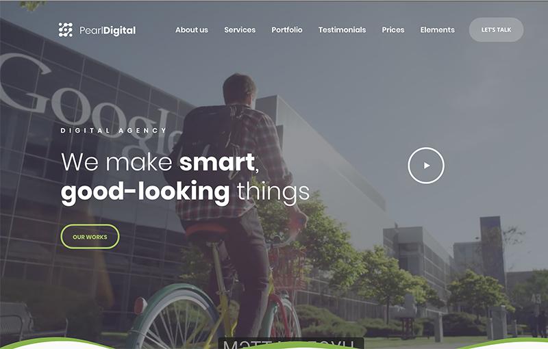 Landing digital agency